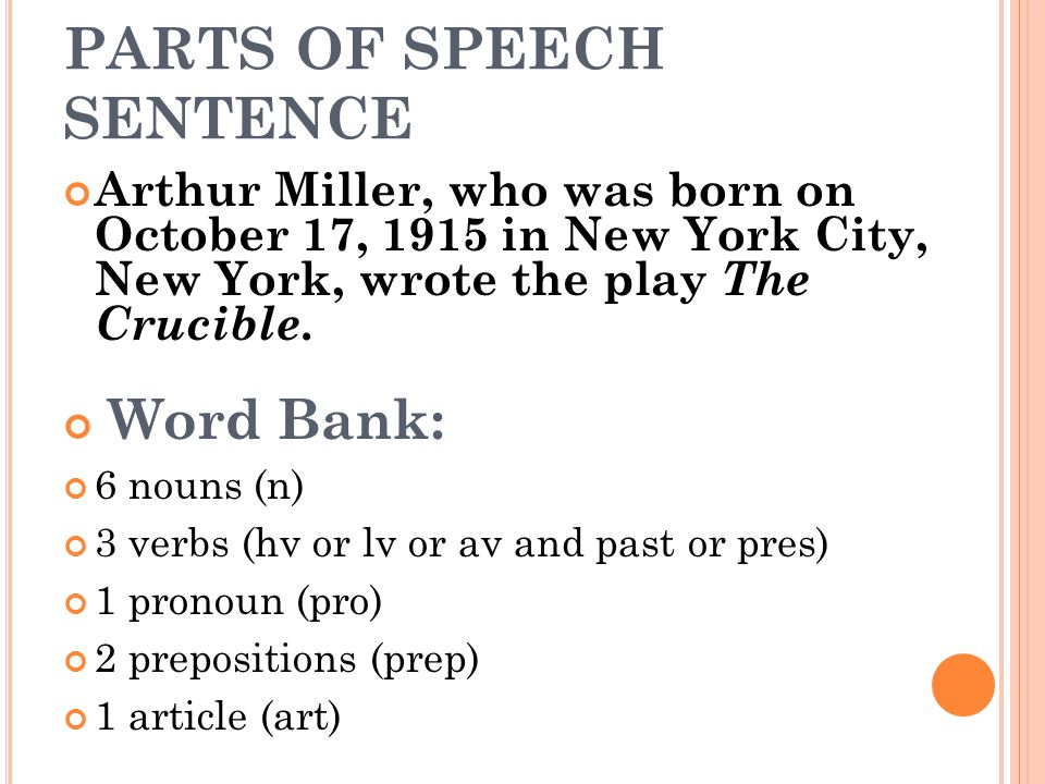 Arthur Miller, who was born on October 17, 1915 in New York City, New York, wrote the play The Crucible.