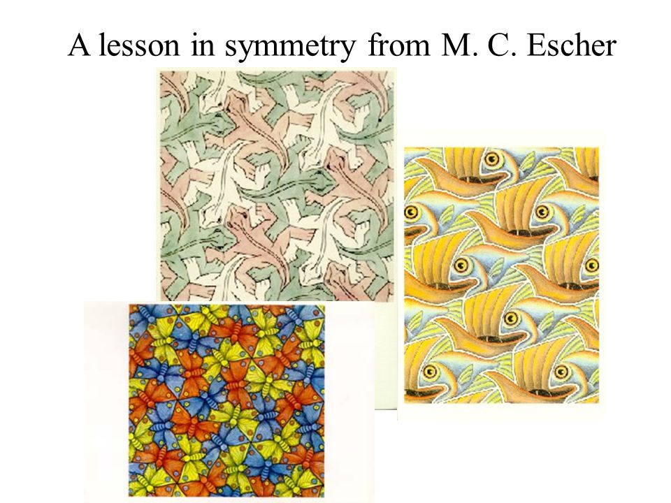 A lesson in symmetry from M. C. Escher