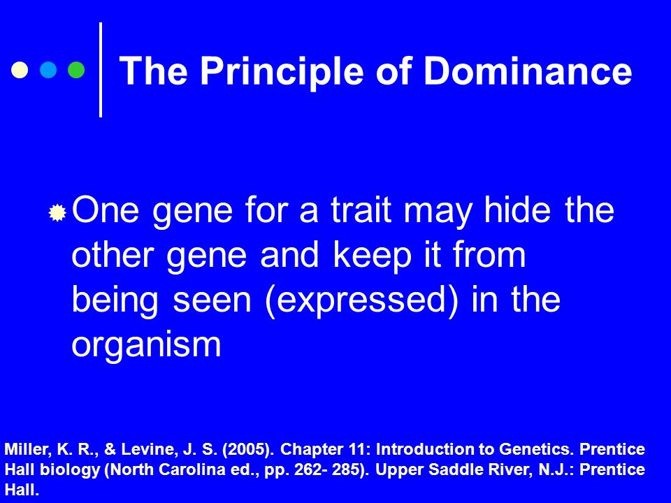 Three Basic Principles of Genetics