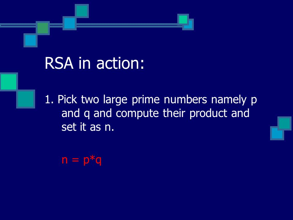 RSA in action: 1.