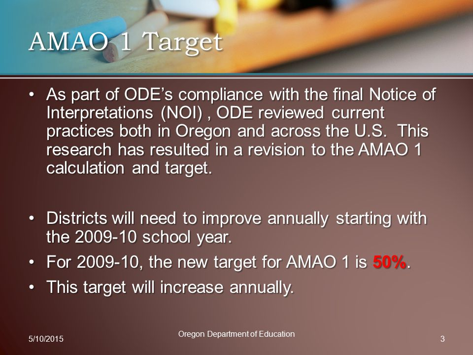 As part of ODE's compliance with the final Notice of Interpretations (NOI), ODE reviewed current practices both in Oregon and across the U.S.