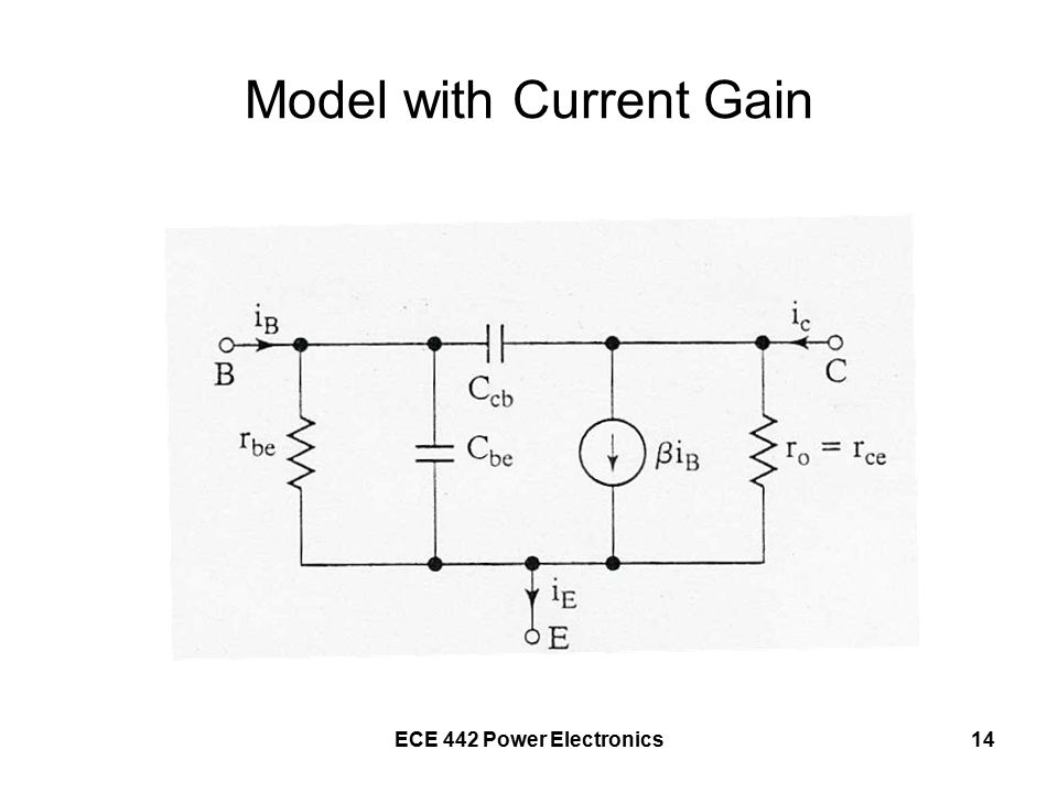 ECE 442 Power Electronics14 Model with Current Gain