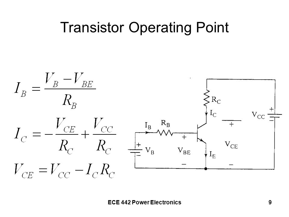 9 Transistor Operating Point