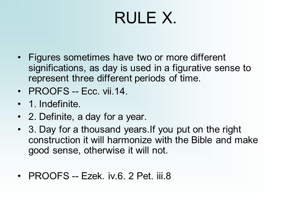 RULE X.