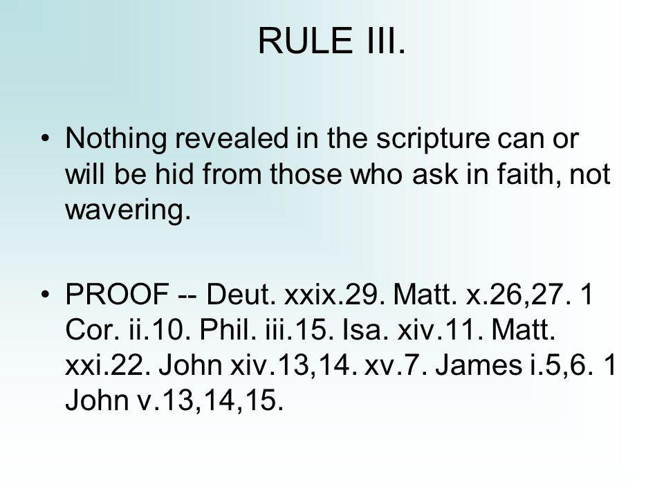 RULE III.