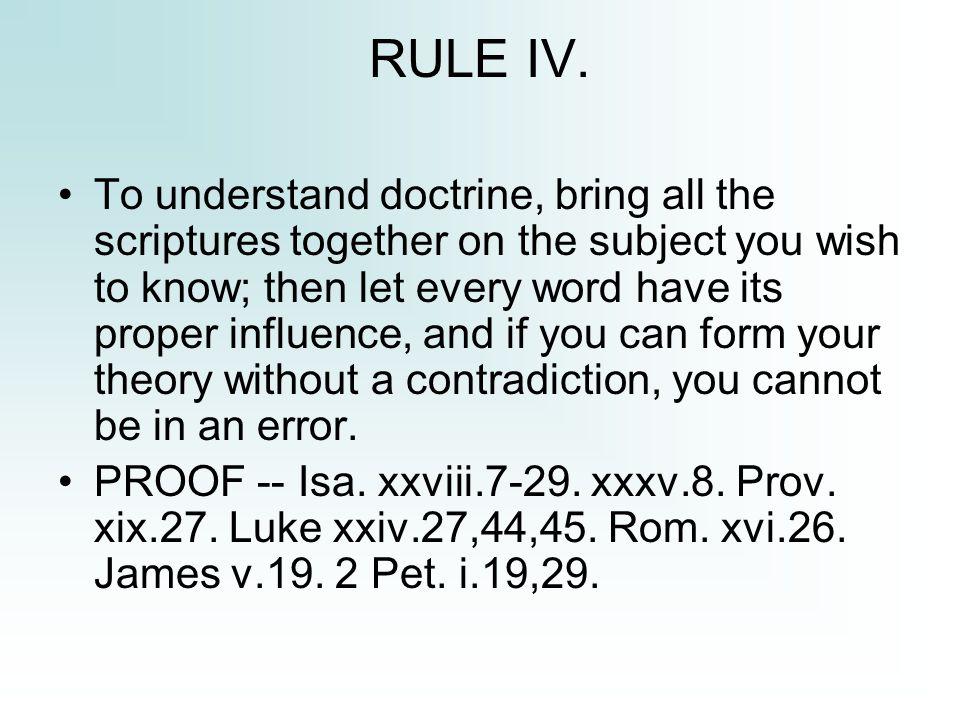 RULE IV.