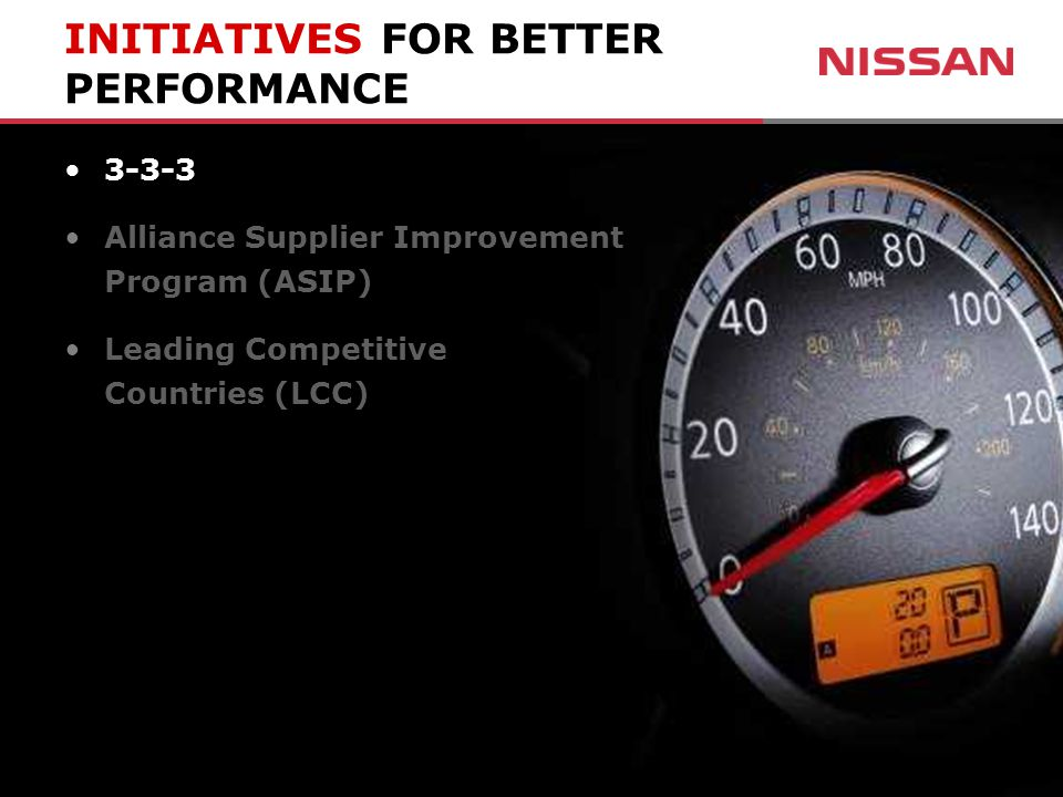 3-3-3 Alliance Supplier Improvement Program (ASIP) Leading Competitive Countries (LCC)