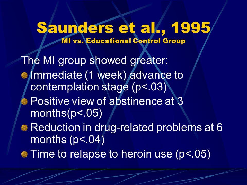Saunders et al., 1995 MI vs.