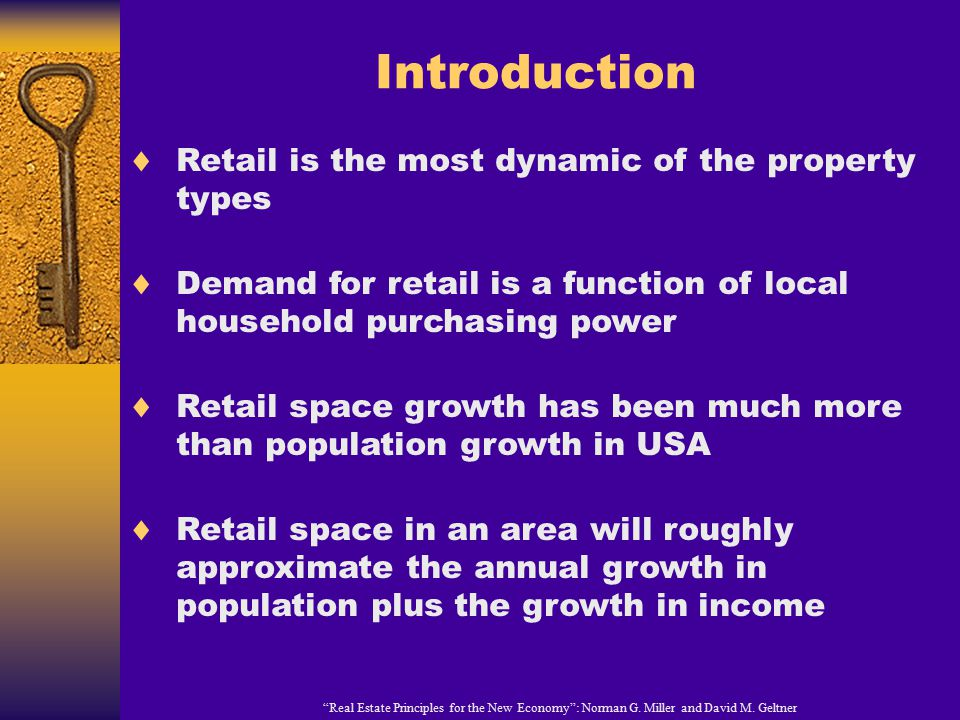 Introduction Real Estate Principles for the New Economy : Norman G.
