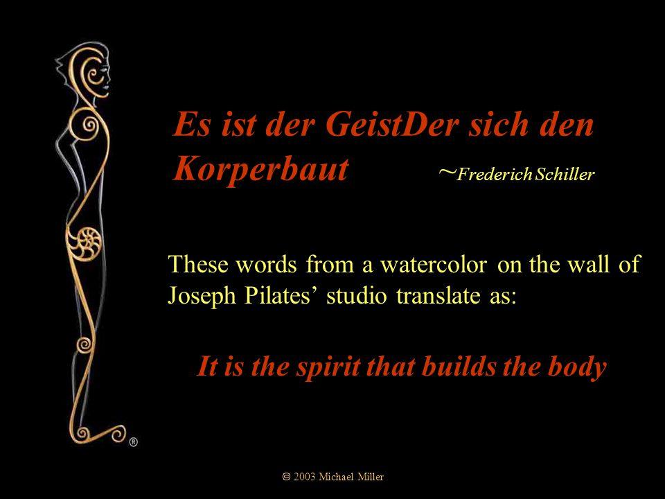  2003 Michael Miller Geist  Geist as in poltergeist  Geist as in ghost  Geist as in spirit  Geist as in one's mind's eye  Geist as in the observer