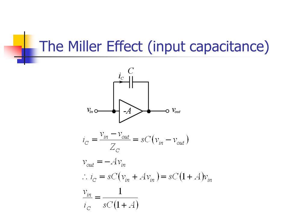 The Miller Effect (input capacitance)
