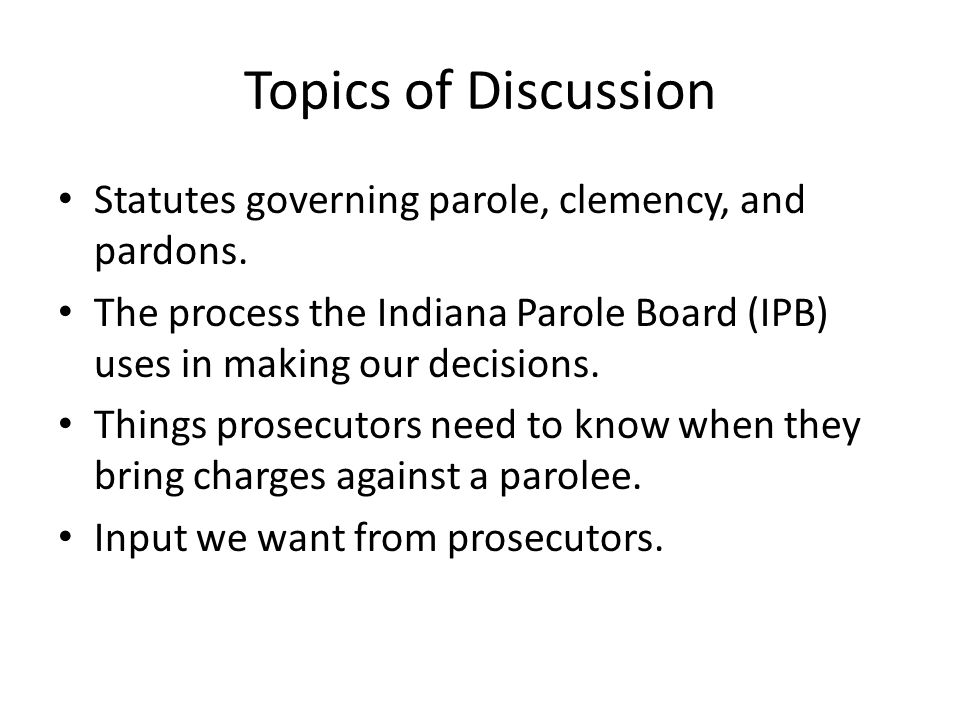 What this Presentation is Not: A discussion of the separate topic of probation.