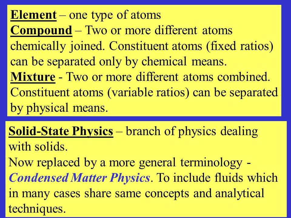 STRUCTURE OF SOLIDS Can be classified under several criteria based on atomic arrangements, electrical properties, thermal properties, chemical bonds etc.