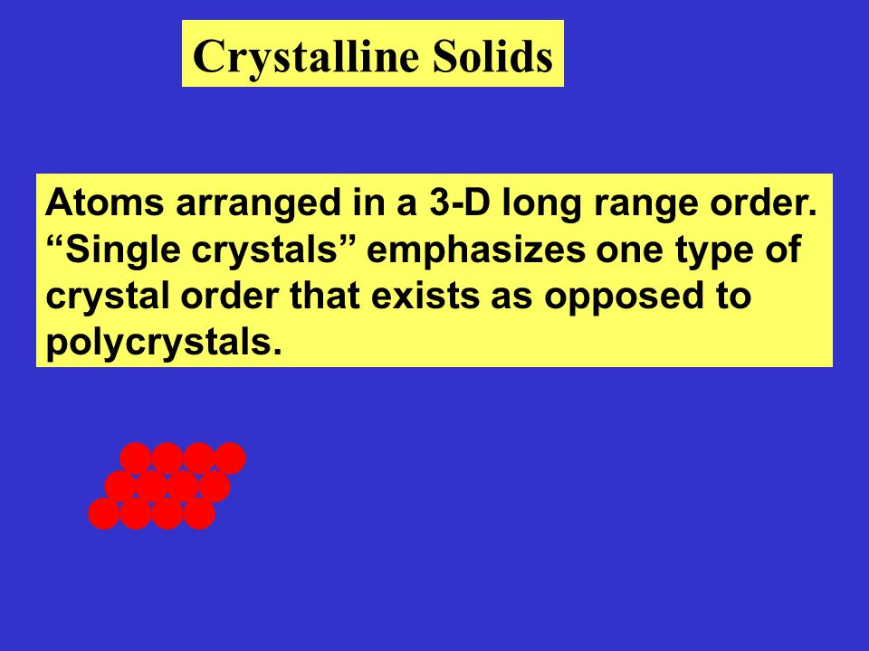 Properties of single crystalline materials vary with direction, ie anisotropic.