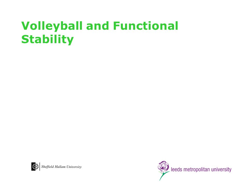 Volleyball and Functional Stability