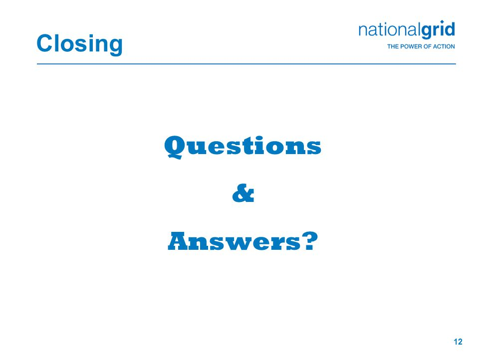 12 Closing Questions & Answers