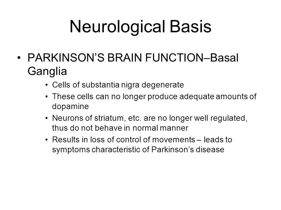 Sources Aminoff, M.(2003). Parkinson Primer: Overview of Parkinson's Disease.