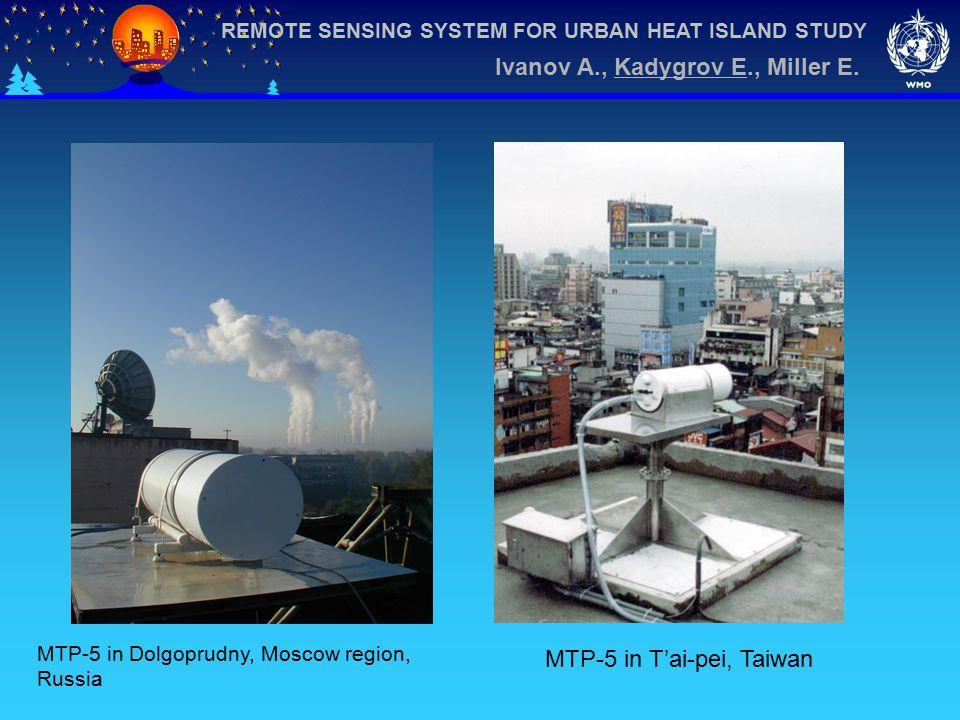 REMOTE SENSING SYSTEM FOR URBAN HEAT ISLAND STUDY Ivanov A., Kadygrov E., Miller E.