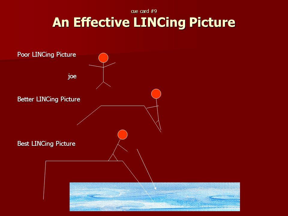 Poor LINCing Picture joe joe Better LINCing Picture Best LINCing Picture