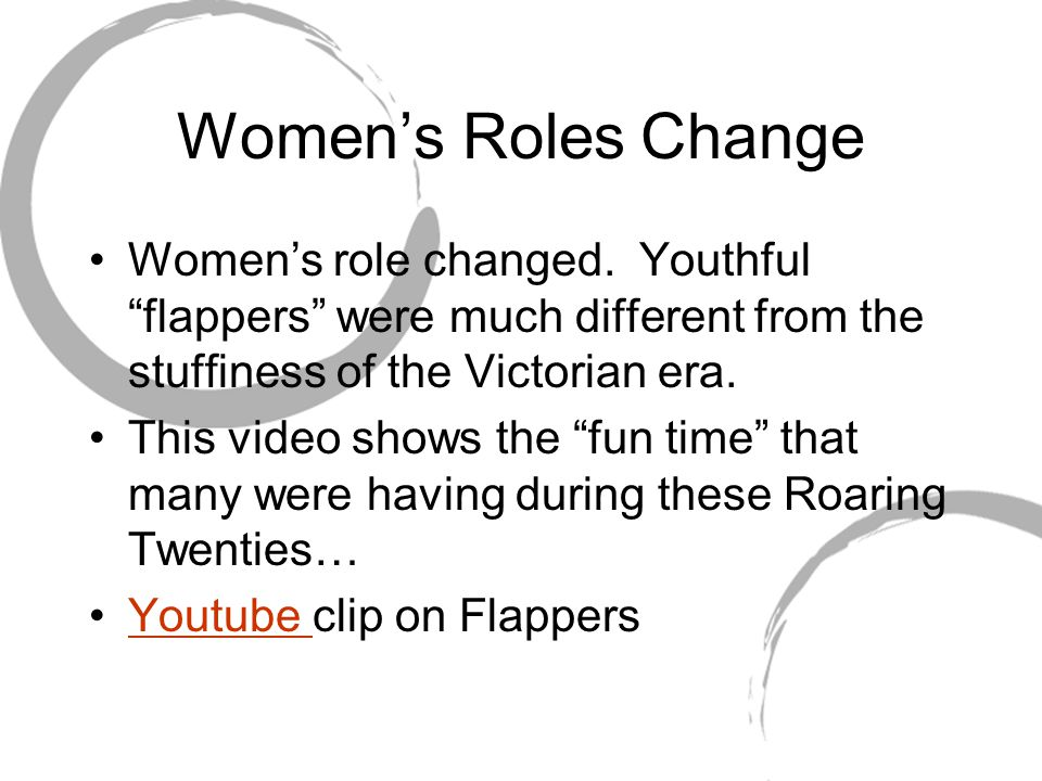 Women's Roles Change Women's role changed.