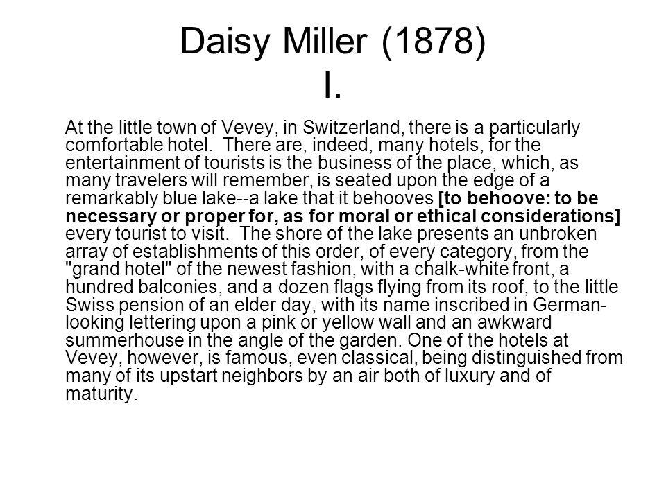 Daisy Miller (1878) I.
