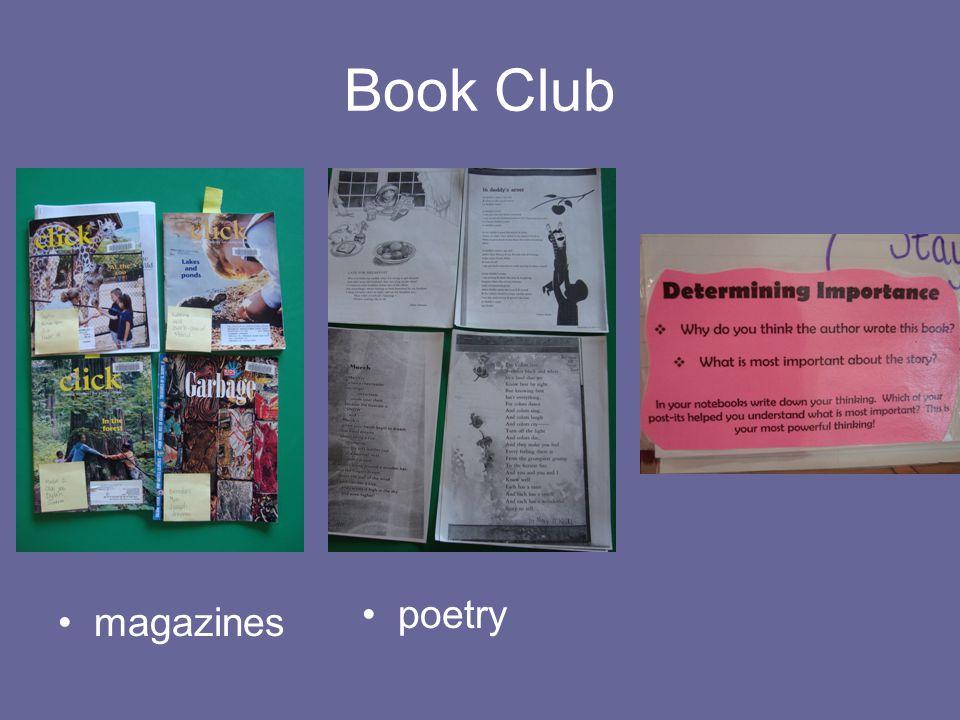 Book Club magazines poetry