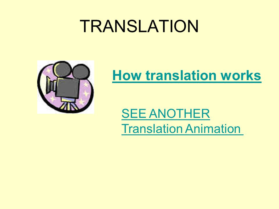 TRANSLATION SEE ANOTHER Translation Animation How translation works