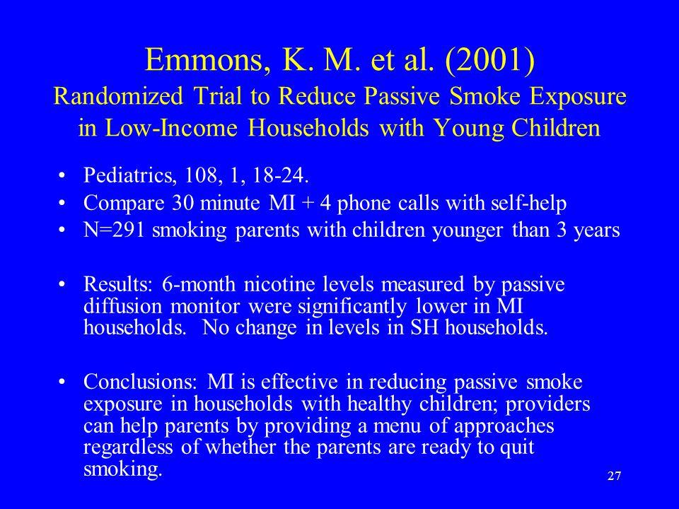 27 Emmons, K. M. et al.