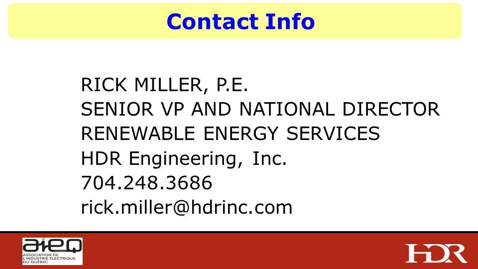 Contact Info RICK MILLER, P.E.
