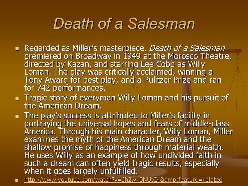 Arthur Miller on Realism 'Realism is a style, an artful convention, and not a piece of reportage.