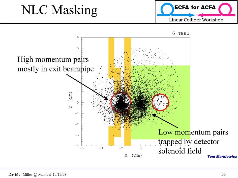 David J. Miller @ Mumbai 15/12/03 ECFA for ACFA 16 NLC Masking