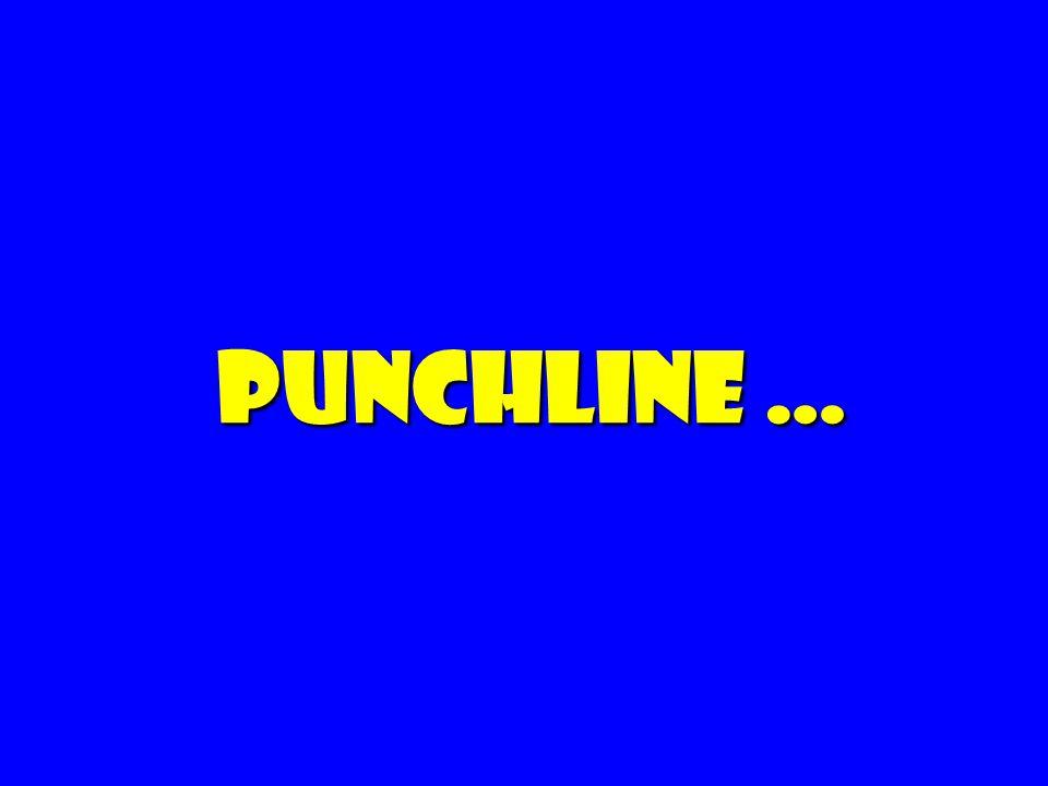 Punchline …