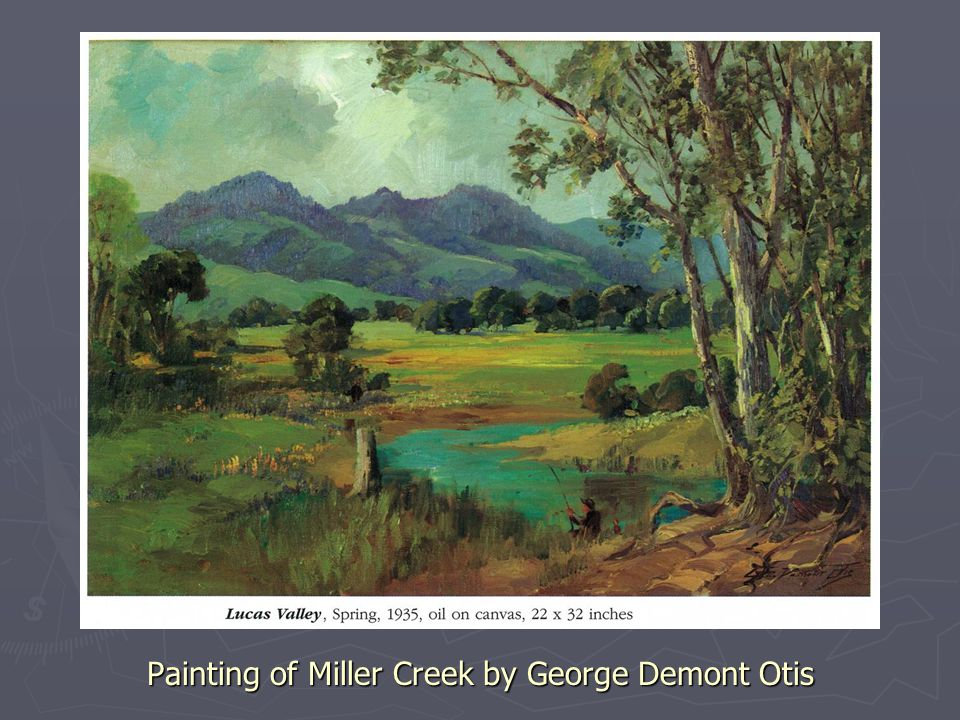 Painting of Miller Creek by George Demont Otis