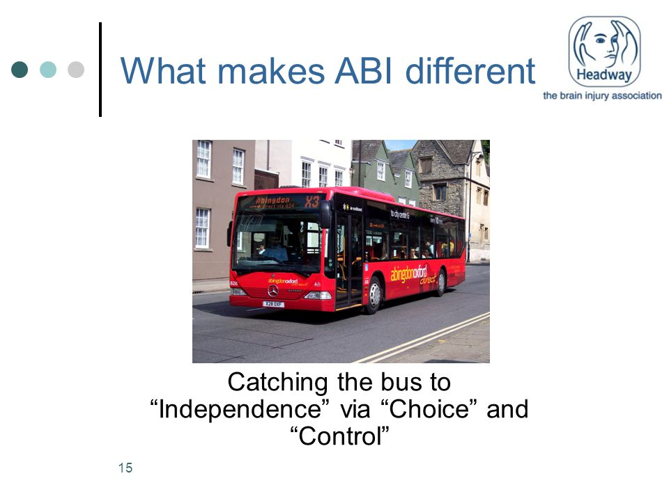 "15 What makes ABI different Catching the bus to ""Independence"" via ""Choice"" and ""Control"""