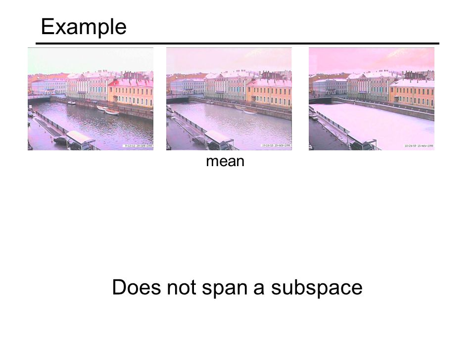 Example Does not span a subspace mean