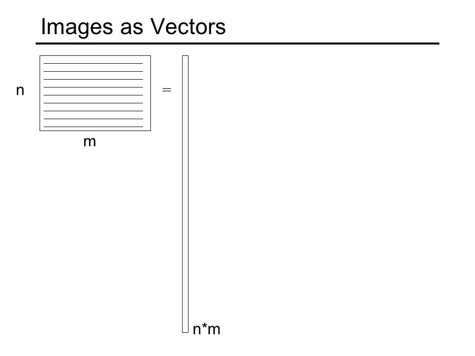 Vector Mean: Importance of Alignment = m n n*m = ½ + ½ = mean image