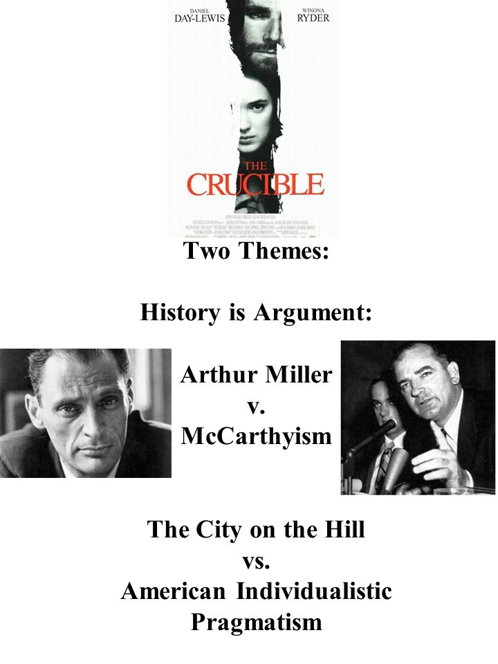 Two Themes: History is Argument: Arthur Miller v. McCarthyism The City on the Hill vs.