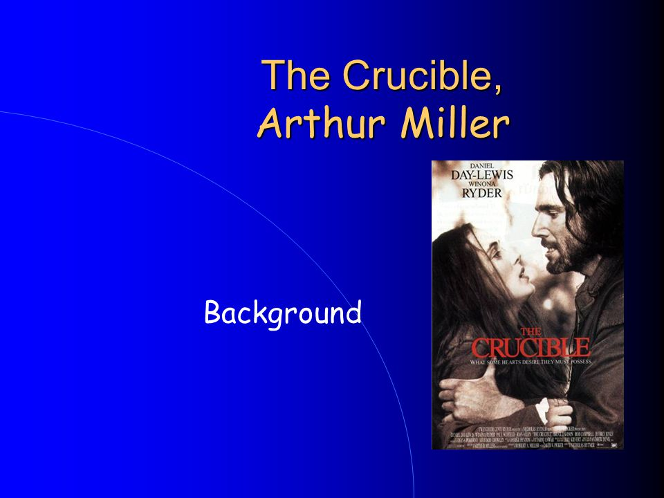 The Crucible, Arthur Miller Background