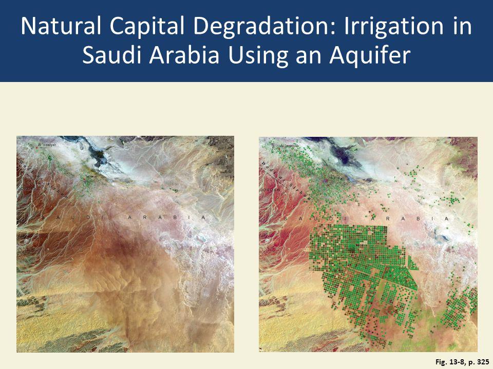 Natural Capital Degradation: Irrigation in Saudi Arabia Using an Aquifer Fig. 13-8, p. 325
