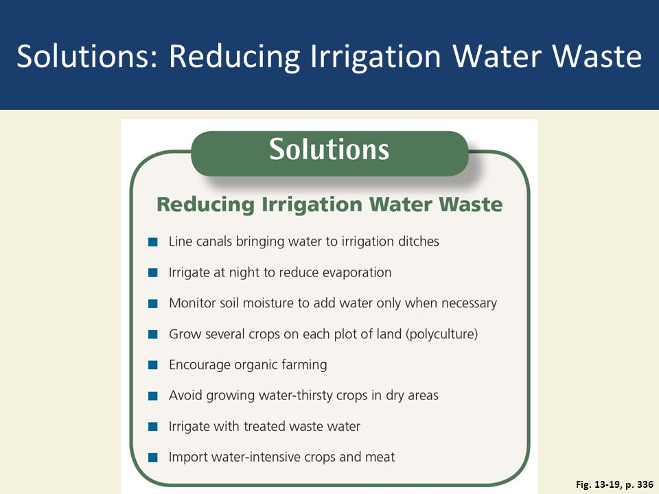 Solutions: Reducing Irrigation Water Waste Fig. 13-19, p. 336