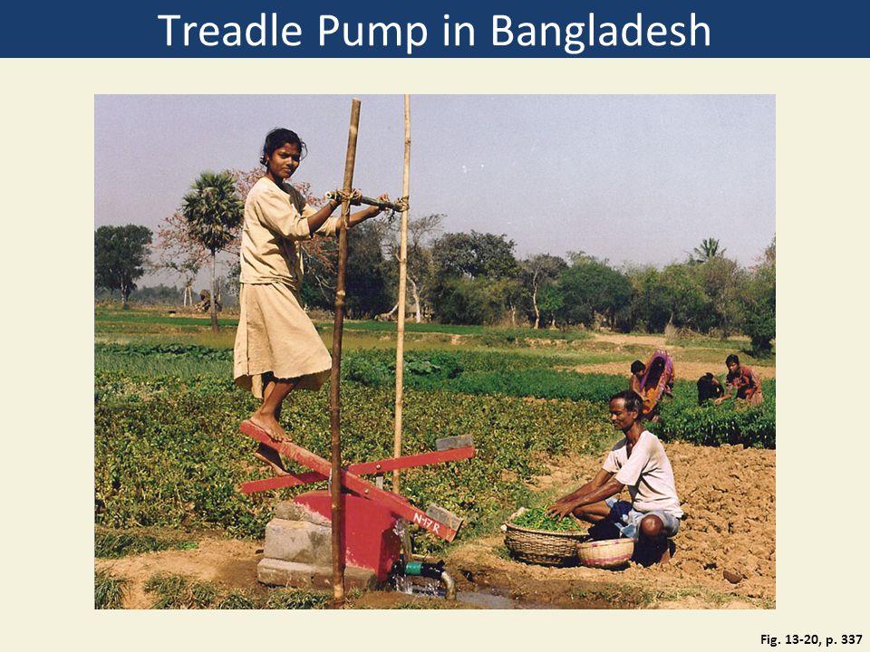 Treadle Pump in Bangladesh Fig. 13-20, p. 337