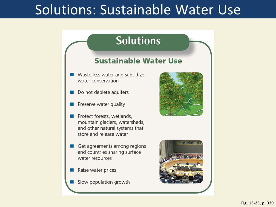 Solutions: Sustainable Water Use Fig. 13-23, p. 339