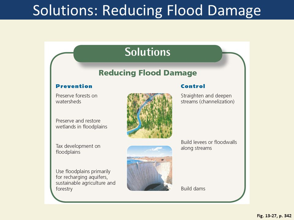 Solutions: Reducing Flood Damage Fig. 13-27, p. 342