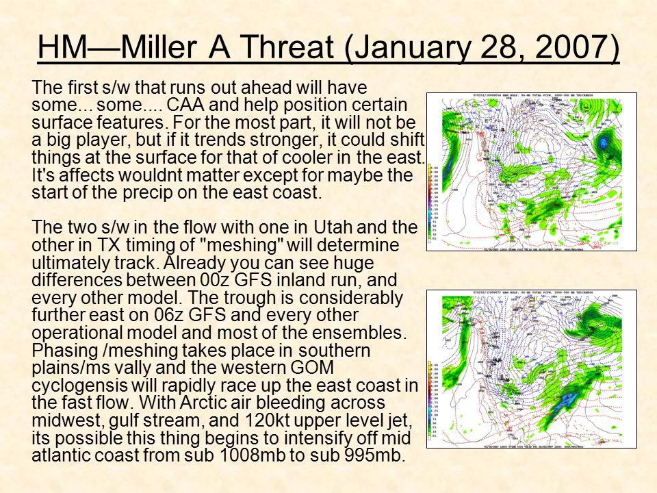 HM—Miller A Threat (January 28, 2007) The first s/w that runs out ahead will have some... some.... CAA and help position certain surface features. For