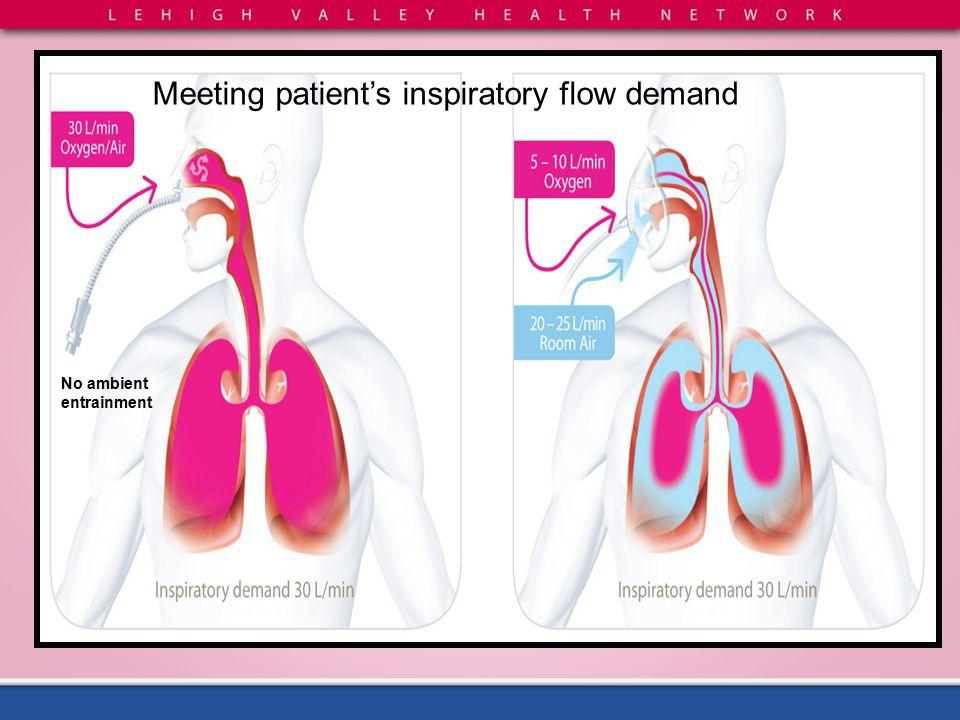 Meeting patient's inspiratory flow demand No ambient entrainment