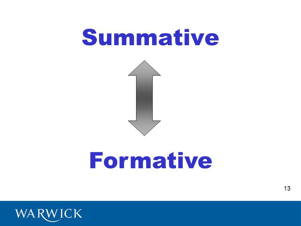 Summative Formative 13