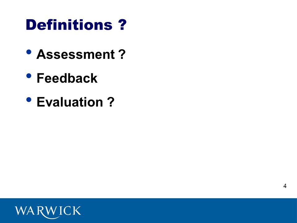 Assessment Feedback Evaluation Definitions 4