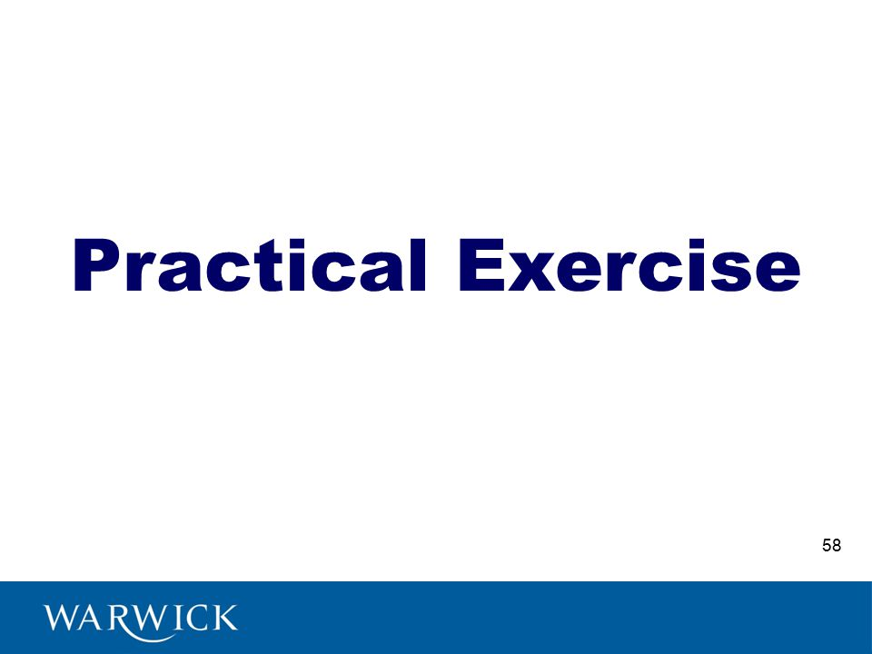 Practical Exercise 58