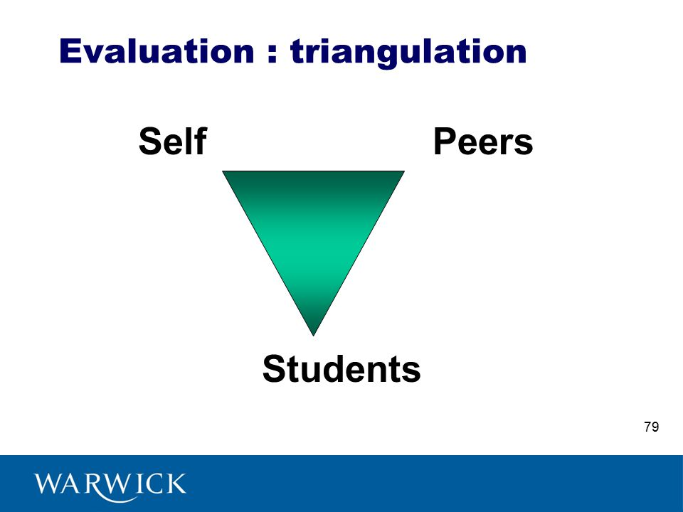 Evaluation : triangulation SelfPeers Students 79