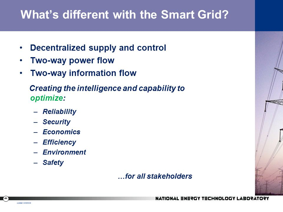 5 What's different with the Smart Grid.